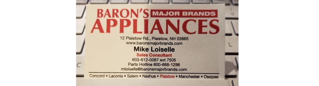 Baron S Major Brands Liances Plaistow