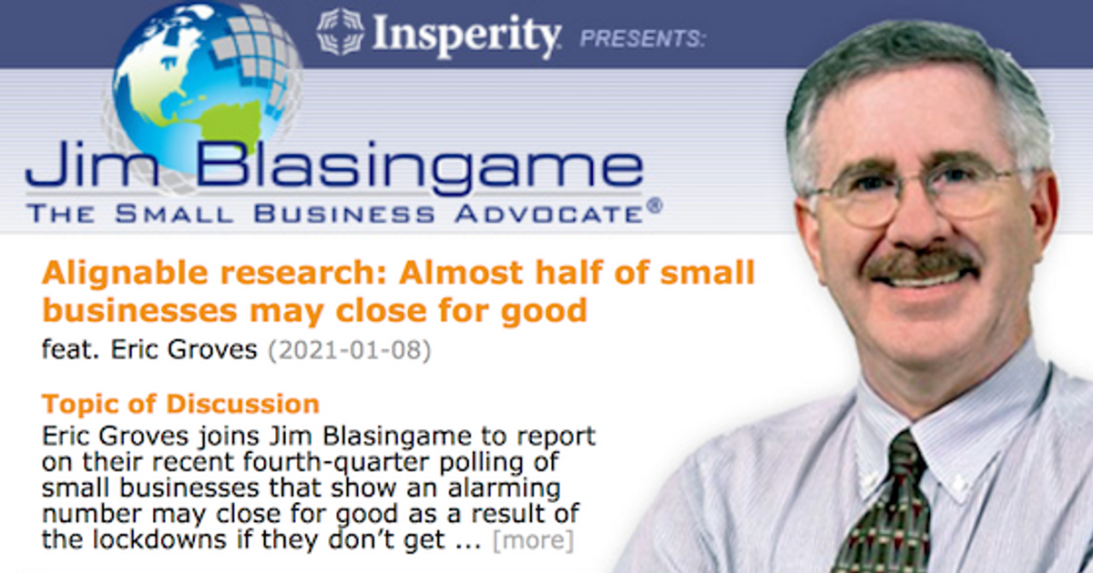 Small Business Advocate Show Interviews Alignable CEO