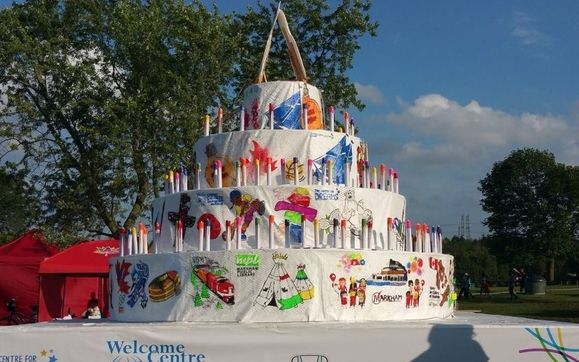 Outstanding Giant Birthday Cake At The Markham 150 Expo By New Step For You Funny Birthday Cards Online Alyptdamsfinfo