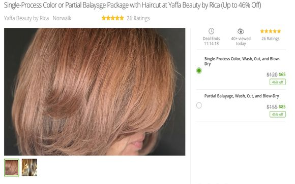Single Process Color Partial Balayage Package With Haircut