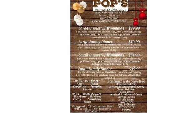 Christmas Dinner By Pop S Comfort Kitchen In Bartlett Tn Alignable