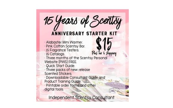 photograph regarding Printable Scentsy Order Form named 15th Anniversary - Be a part of as a result of Scentsy in just Mason, OH - Alignable