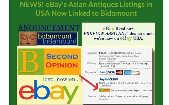 Ebay Enters Partnership Agreement With Bidamount Asian Art Gloucester Ma Plcombs By Plcombs Asian Art In Gloucester Ma Alignable