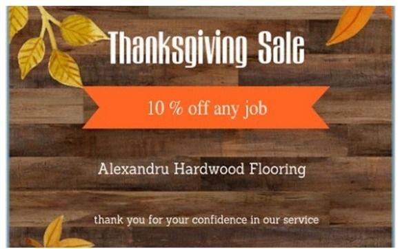 Thanksgiving At Alexandru Hardwood Flooring And Flooring