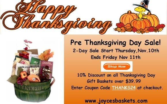Thanksgiving Day Sale at Joyce's