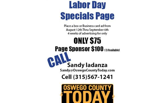 Oswego County Today >> Oswego County Today S Labor Day Specials Page By Oswego