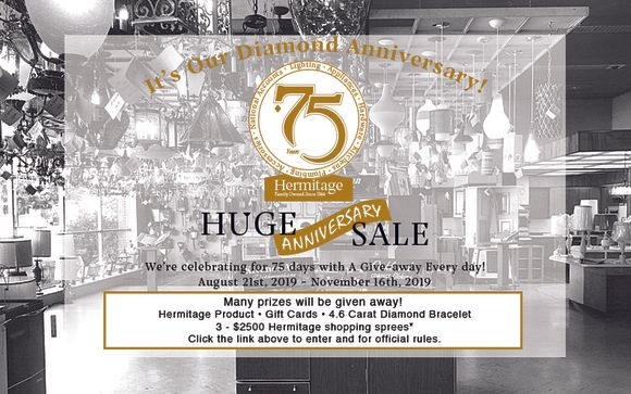75th Anniversary By Hermitage Lighting Gallery In Nashville