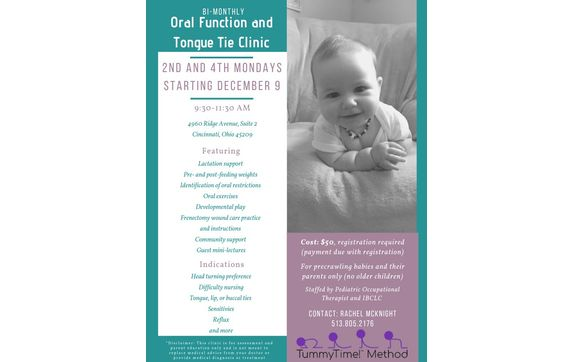 Oral Function and Tongue Tie Clinic by Baby Bond Lactation ...