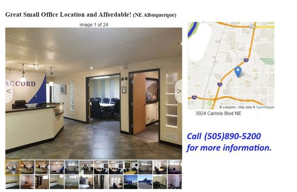 Small Office For Lease By Jimmy Montoya The One Accord Team Simply Real Estate In Albuquerque Nm Alignable