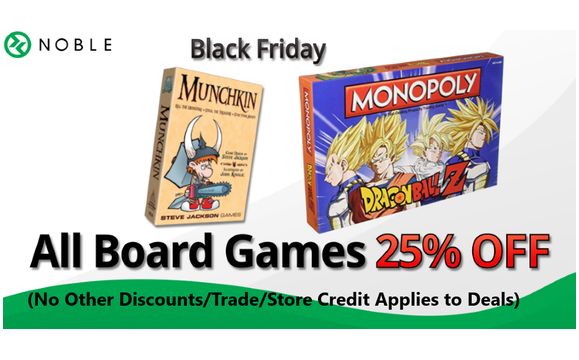 Noble S Black Friday Weekend Sale On Board Games By Noble Gaming In Albuquerque Nm Alignable