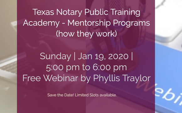 Texas Notary Public Mentorship How It Works Free
