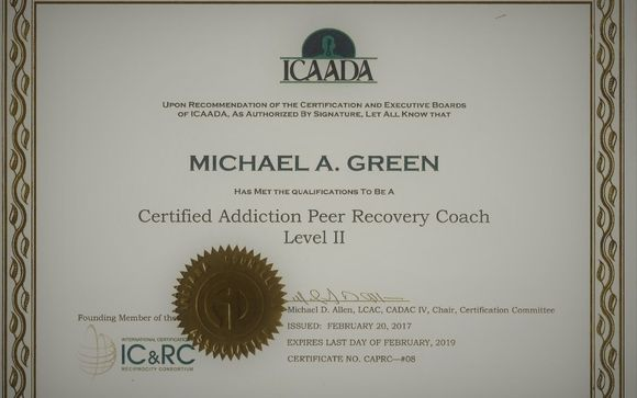 Certified Recovery Coach By Certified Recovery Coach In