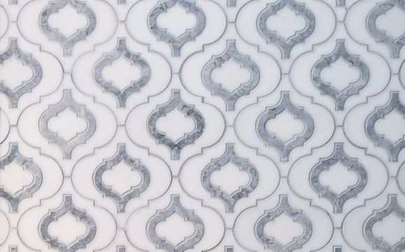 Waterjet Cutting Marble Mosaic Tile By