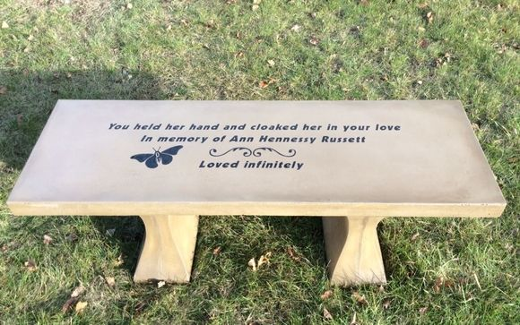 Magnificent Engraving Concrete Memorials Benches By Sculpture By Short Links Chair Design For Home Short Linksinfo