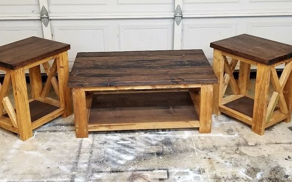 Farmhouse Coffee And End Tables By Tj S Prime Woodworking In