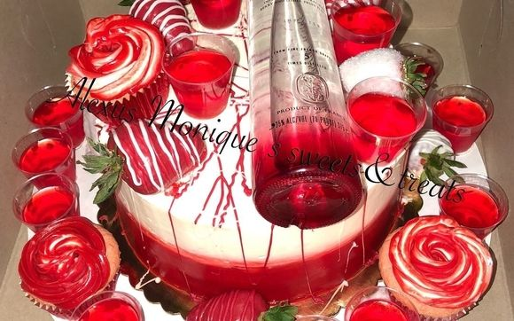 Pleasing Red Berry Ciroc Cake By Alexus Moniques Sweets And Treats In Funny Birthday Cards Online Alyptdamsfinfo