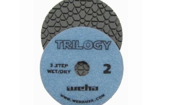 "4"" 3-Step Wet /& Dry Pro Diamond Polishing Pads for Granite Quartz Stone"