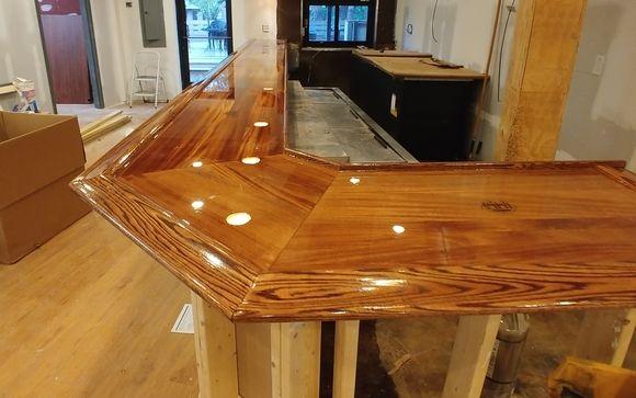 Custom Bars Bar Tops By Mccants Wood Customs In Taylors