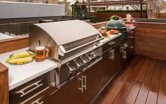 Danver and Brown Jordan stainless steel outdoor kitchen ...