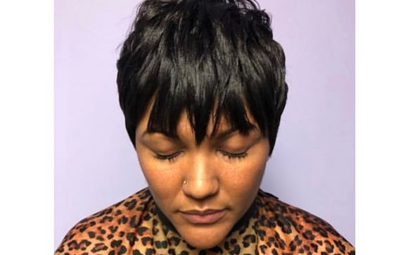 Short Cuts Silk Press Natural Styling Relaxed Hair Styling And Hair Coloring By Life In My Hair Beauty Salon In Buffalo Ny Alignable