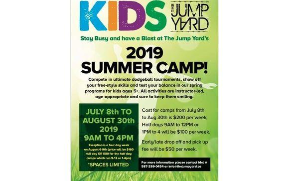 Summer Camp 2019 By The Jump Yard Indoor Trampoline Park In Grande Prairie Ab Alignable