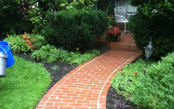 Natural Stone Brick Walkways By Provato Construction In