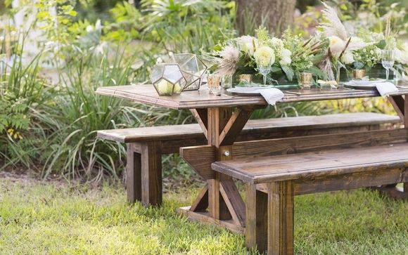 Excellent Farm Tables Benches By Plush Vintage Rental In Vero Beach Gmtry Best Dining Table And Chair Ideas Images Gmtryco