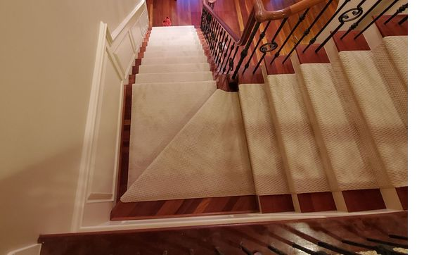 Stair runners by Carpet unlimited in